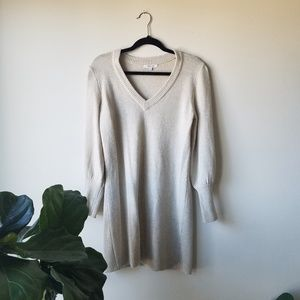 Madewell Bubble Sleeve Sweater Dress S